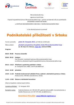 Podnikatelské příležitosti v Srbsku