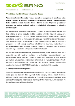 Tisková zpráva Zoo Brno 13. 5. 2015