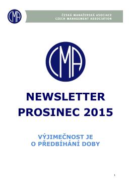 NEWSLETTER PROSINEC 2015 - Česká manažerská asociace