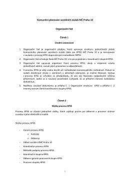 Organizační řád 2015
