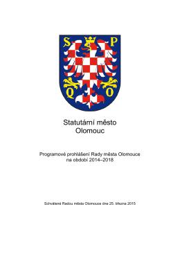Programové prohlášení Rady města Olomouce na období 2014