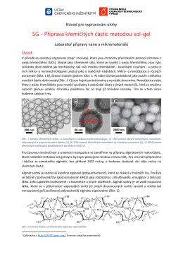 SG - Příprava křemičitých částic metodou sol-gel