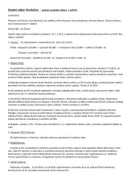 OV Struhařov - jednání 4 - 2015