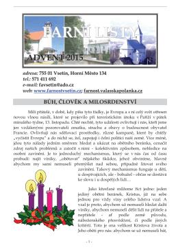 Číslo 29 - Advent 2015
