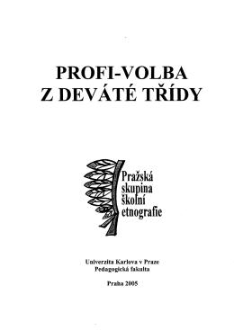 obsah - Univerzita Karlova