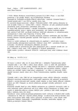Hana Truncová, Třetí odboj na Hořicku