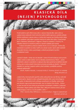 KLASICKÁ DÍLA NEJEN PSYCHOLOGIE