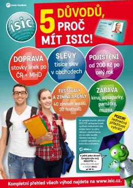 informační plakát ISIC, ITIC