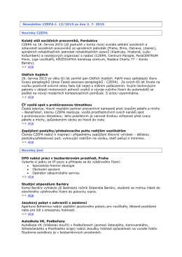 Newsletter CZEPA č - Komunitní portál Vozejkov.cz