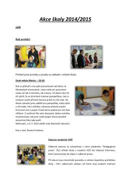 Akce školy 2014/2015