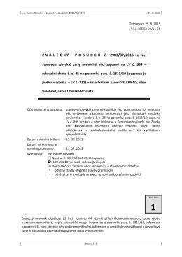Z N A L E C K Ý P O S U D E K   č. 2903/87/2015 - E