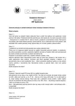 Dodatečné informace k podlimitní veřejné zakázce - E