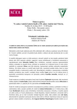 Tisková zpráva k aukčnímu dni 24.5.2015