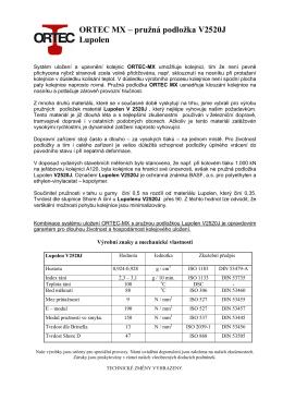 ORTEC MX – pružná podložka V2520J Lupolen