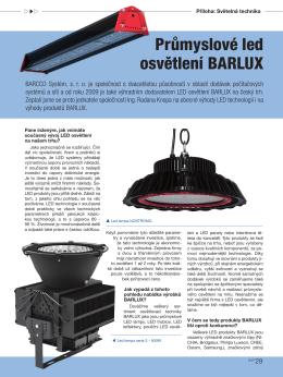 Průmyslové led osvětlení BARLUX