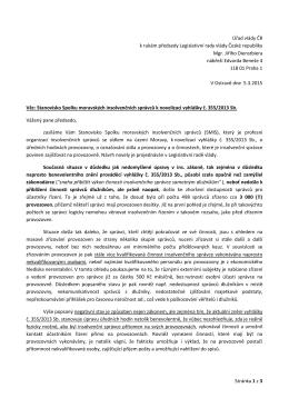 Stanovisko zde - Spolek moravských insolvenčních správců