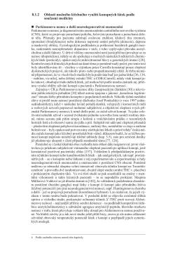 8.1.2 Oblasti možného léčebného využití konopných látek podle