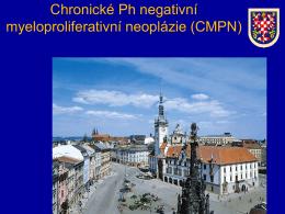 Chronické Ph negativní myeloproliferativní neoplázie