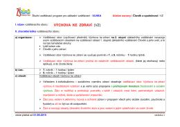 VÝCHOVA KE ZDRAVÍ (VZ) - Základní škola Česká Ves