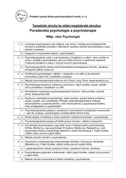Poradenská psychologie a psychoterapie