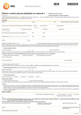 formuláři ke smlouvě