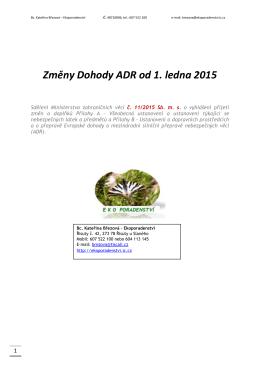 Změny ADR 2015 - Bc. Kateřina Březová