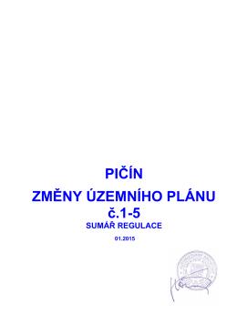 územní plán včetně všech změn do roku 2015 text