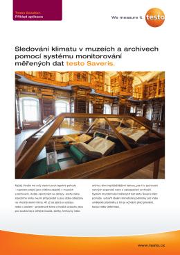 Sledování klimatu v muzeích a archivech pomocí systému