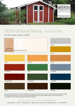Online vzorník Stálé olejové barvy