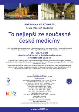 To nejlepší ze současné české medicíny