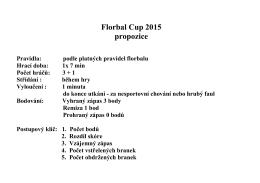 Florbal Cup 2015 propozice