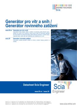 Generátor pro vítr a sníh / Generátor rovinného zatížení