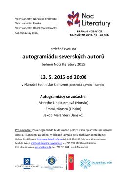 autogramiáda severských autorů