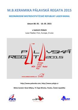Pálavska regata 2015 popis,vyhodnocení