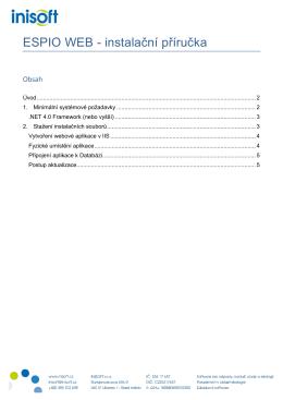 ESPIO WEB - instalační příručka