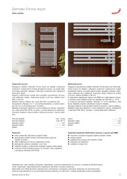 Technický katalog Zehnder Forma Asym