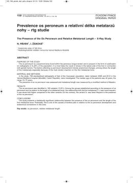 Celá stať v dokumentu PDF - Acta chirurgiae orthopaedicae et