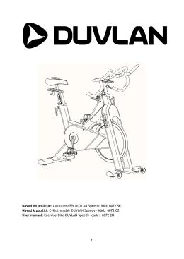 Návod na použitie:  Cyklotrenažér DUVLAN Speedy