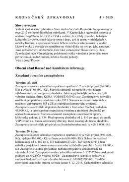 Rozsečský zpravodaj 4/2015