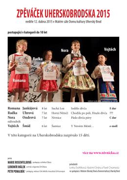 ZPĚVÁČEK UHERSKOBRODSKA 2015