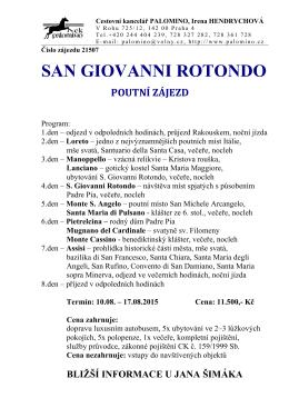 Zájezd do Itálie