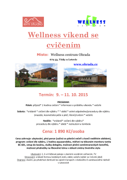 Wellness víkend 9-11.10.2015