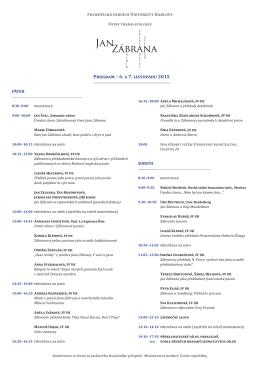 Program – 6. a 7. listopadu 2015