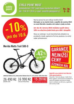 Jen do 10. června 2015 můžete využít slevu 10% na všechna jízdní