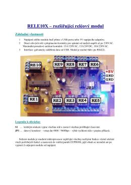RELE10X – rozšiřující reléový modul