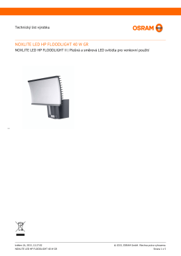 NOXLITE LED HP FLOODLIGHT 40 W GR