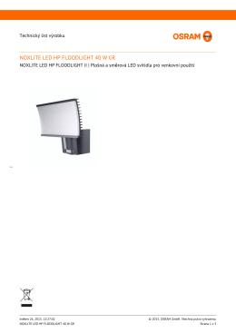 NOXLITE LED HP FLOODLIGHT 40 W GR