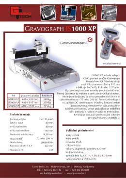 GRAVOGRAPH 1000 XP - Gravo Tech s.r.o.