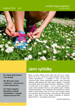 150305_NEWSLETTER March 2015 CZ_fin
