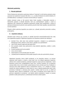 Obchodní podmínky 1. Rozsah platnosti 2